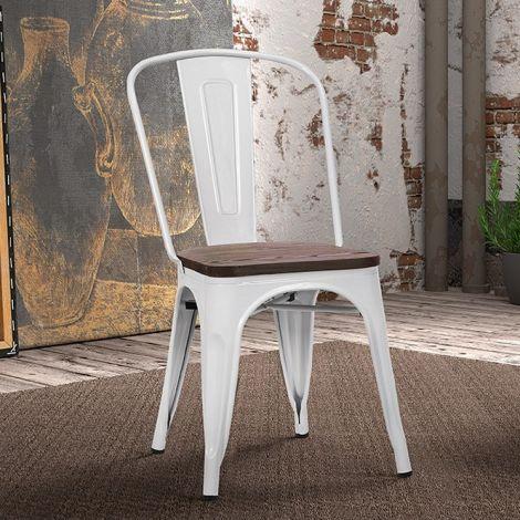 Lot de 4 chaises Victoria - blanc
