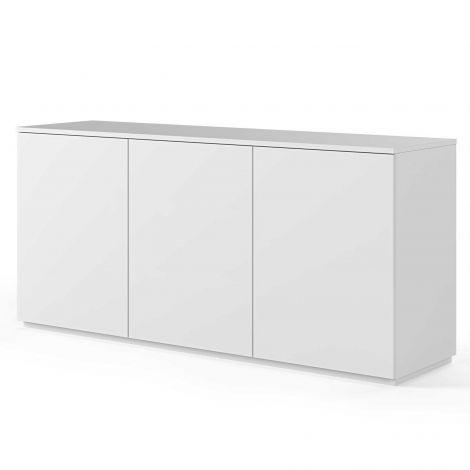 Dressoir Join 180cm hoog model met 3 deuren - mat wit