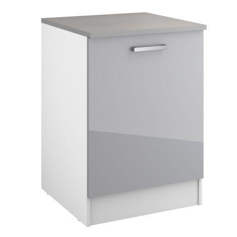 Onderkast Eli 60 cm met deur - grijs