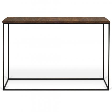 Sidetable Gleam 120cm - roest/staal