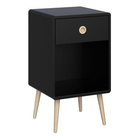 Table de chevet Linz 1 tiroir - noir
