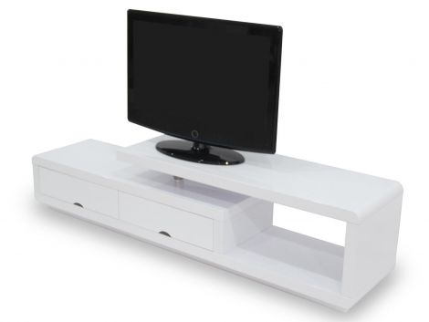Tv-meubel Crystal 180cm - wit