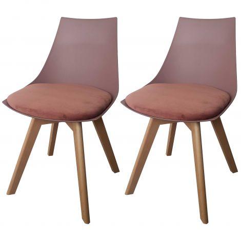 Jeu de 2 chaises Cosmo - rose