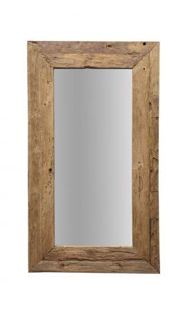Wandspiegel Rustiek - 140x90 cm - drijfhout teak
