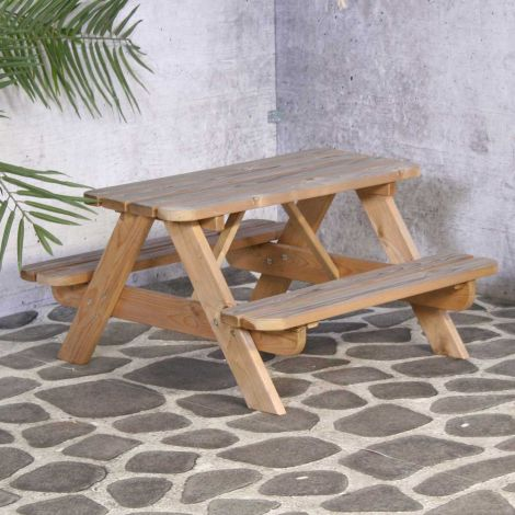 Kinder picknicktafel – naturel