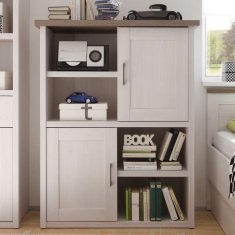 Open kast Larnaca 106cm met 2 deuren - wit