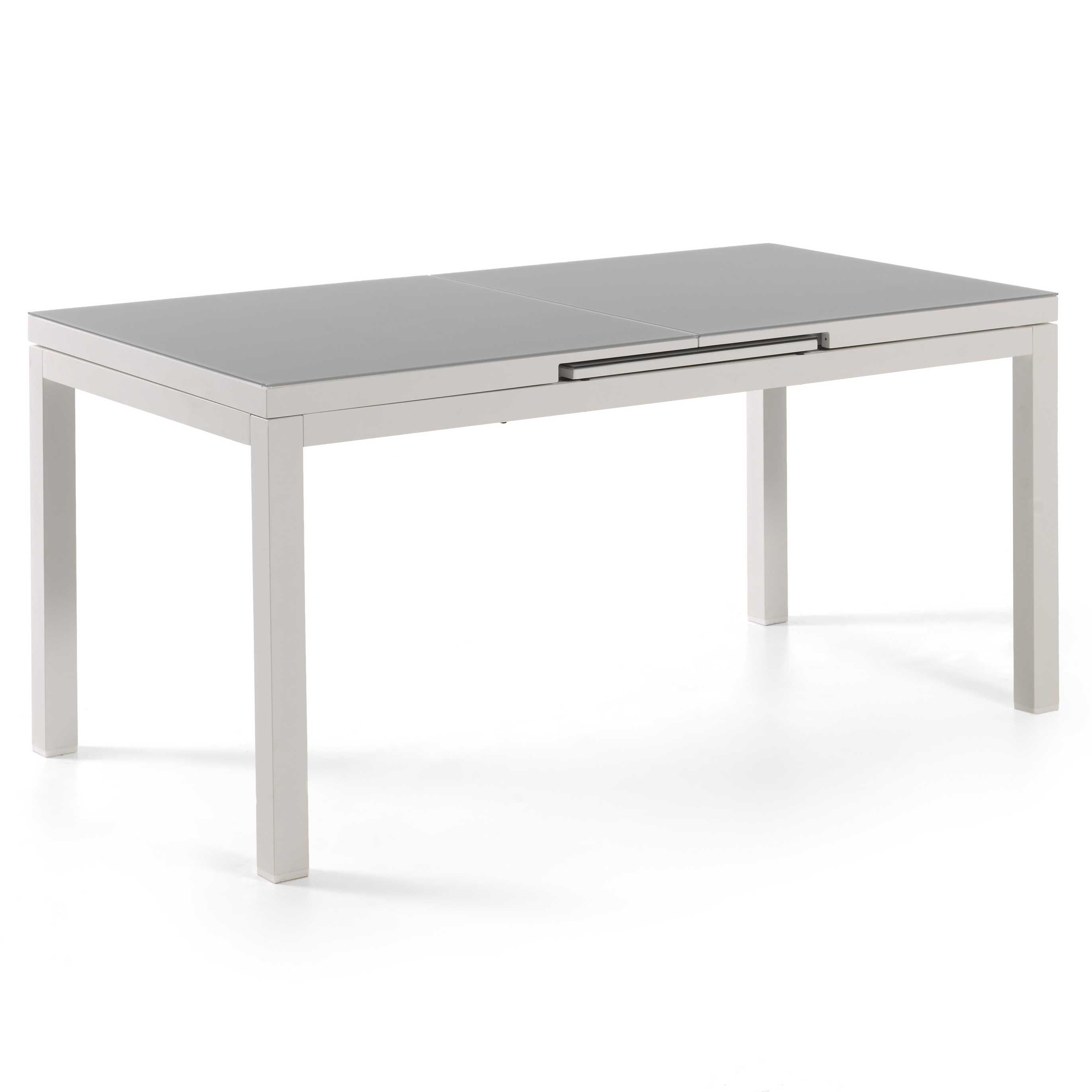 Table de jardin extensible Calvi 220/280 - blanc/gris